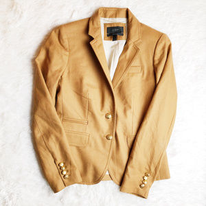 J. Crew Schoolboy 2 Button Blazer Gold Buttons SZ0